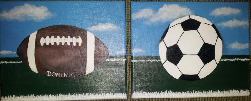 Custom, personalized sports paintings