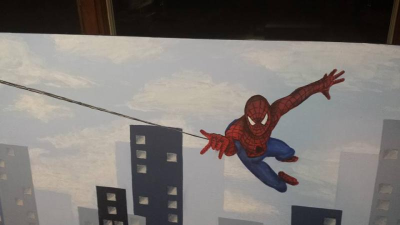 Spiderman Headboard